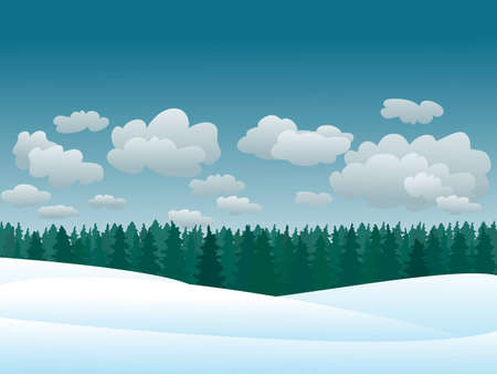 snowy winter landscape.illustration Illustration