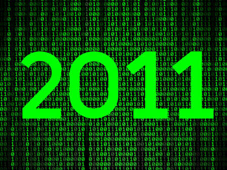 happy new year binary background Vector