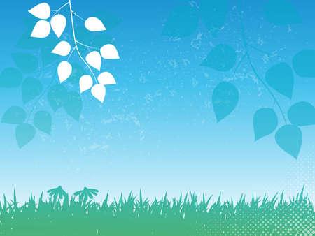 summer background with transparent elements Illustration