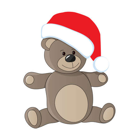 teddy bear christmas: teddy with christmas cap