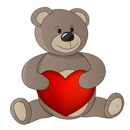 teddy with valentine.