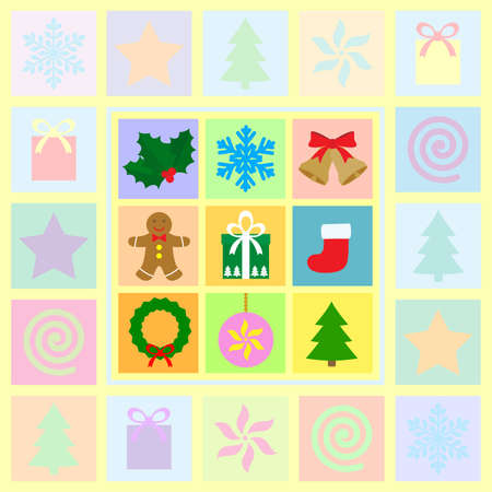 christmas theme symbols Vector