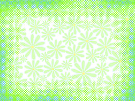 abstract light floral background with halftone elements Vector