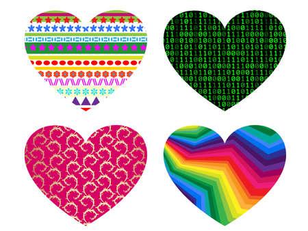 hearts icon set. Vector