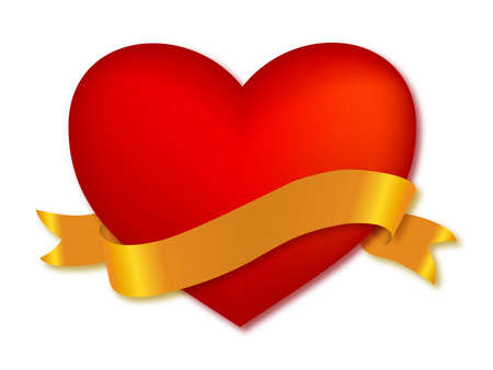 heart with ribbon.