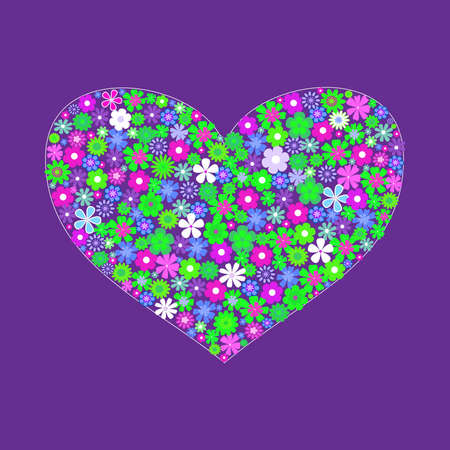 reiteration:  heart shape of flowers