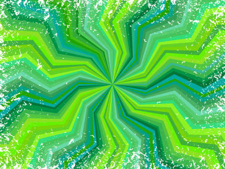 banding: pattern of  radiate zig-zag lines