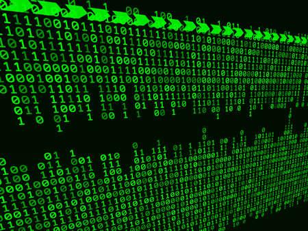 codigo binario: Fondo binario abstracto
