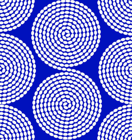 seamless tile: seamless  abstract  shapes on a blue  background