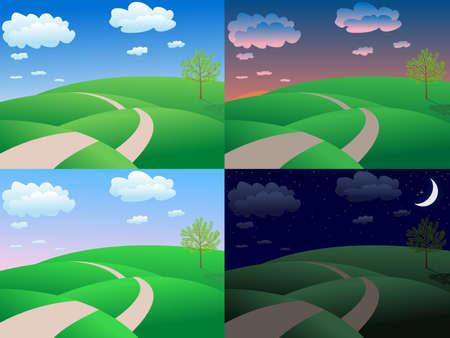 crepuscle:  calm summer landscape