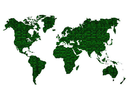 digital world map photo