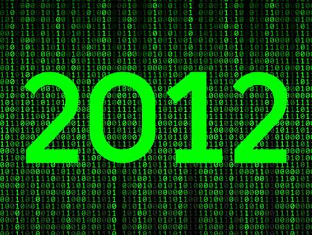 happy new year 2012 binary background Stock Vector - 11276960