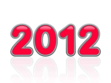 button of date of the new year 2012 Stock Vector - 11276949