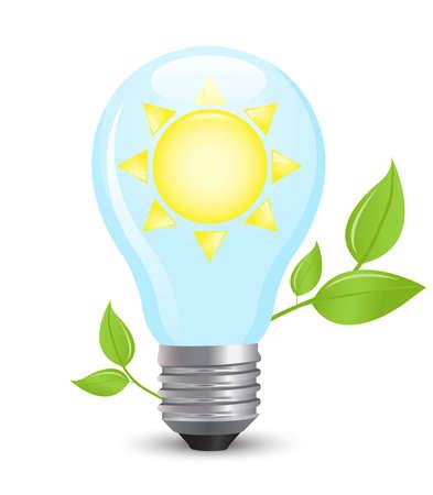 electric light bulb symbolizing solar energy Stock Vector - 11276928