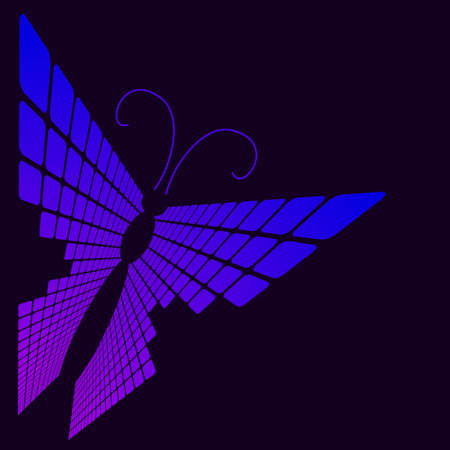 abstract butterfly.vector illustration