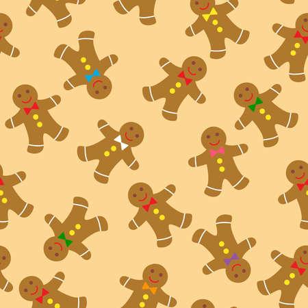 lebkuchen: Lebkuchen nahtlose Muster Illustration