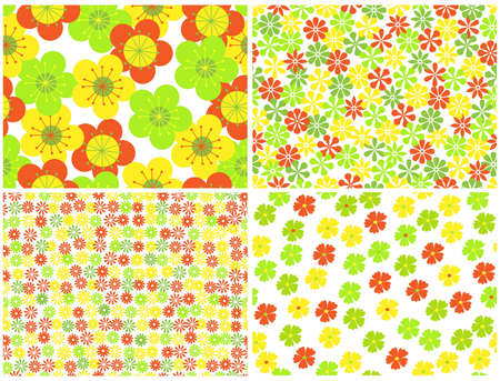 bright seamless  floral backgrounds.vector illustration Stock Vector - 11276963