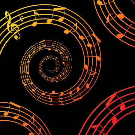 music sheet: music spiral background