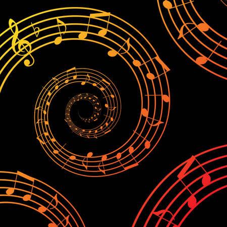 viertelnote: Musik Spirale Hintergrund