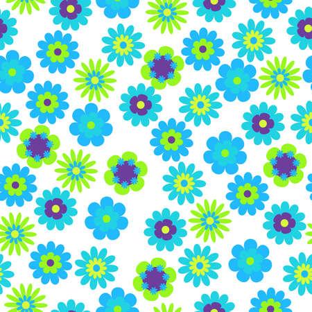 vector de fondo sin fisuras de flores brillantes Vectores