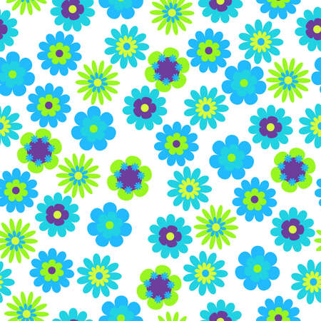 multi coloured: vector seamless bright floral background