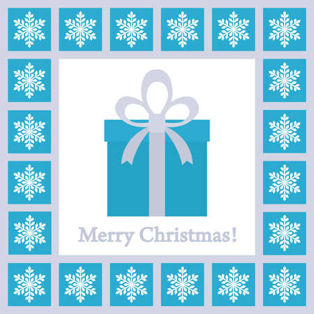 christmas card with gift box Vector