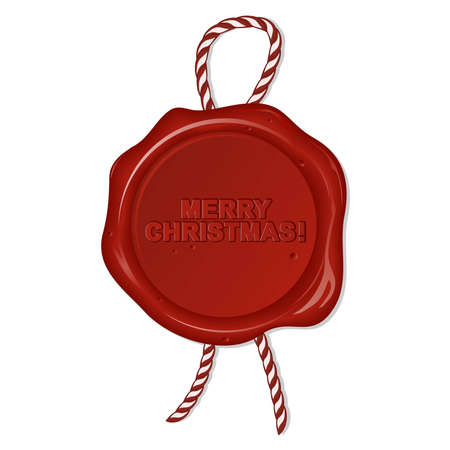 wax seal with christmas wishes Vector