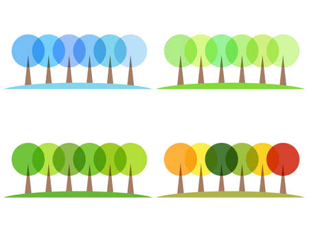 stylized trees Stock Vector - 14851461