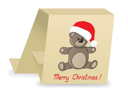 teddy with christmas cap