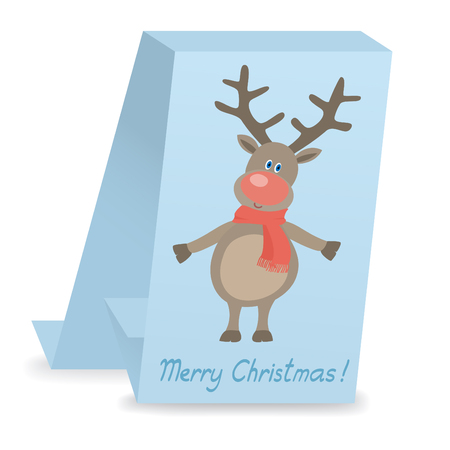christmas card with funny deer Vector