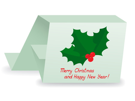 x mas: Christmas holly berry card