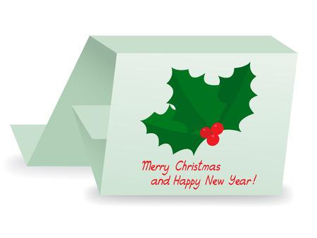 Christmas holly berry card