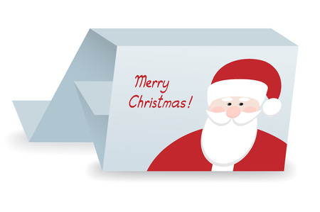 card with santa claus  vector illustration