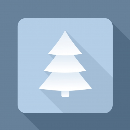 abstract 3d christmas tree with long shadow Illustration