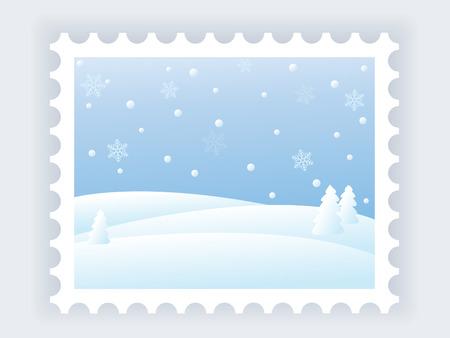 blizzards:  snowy winter landscape vector illustration Illustration