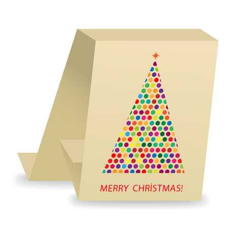 abstract christmas  tree card Illustration