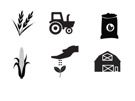 agriculture industry: farm icon