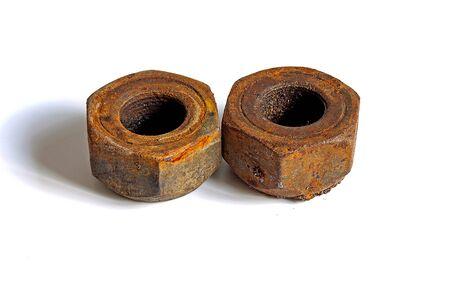 ferruginous: two ferruginous nuts Stock Photo