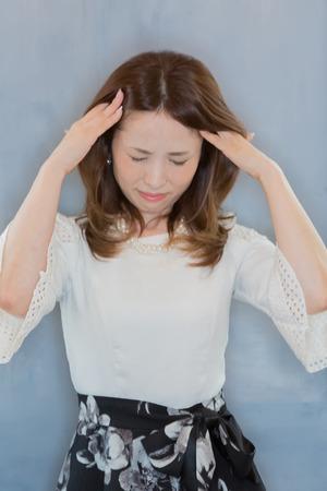 Lady with headache