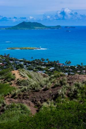 Oahu: Kailua bay in Oahu Island Stock Photo