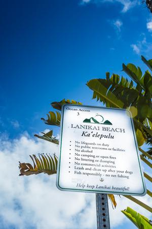 Oahu: Sing in Lanikai, Oahu Island Stock Photo