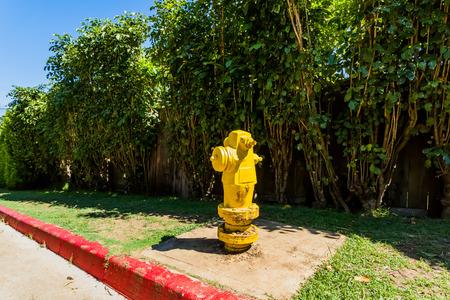 borne fontaine: Incendie jaune Banque d'images