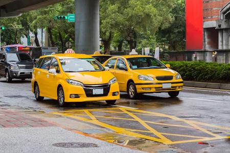 Taxi in Taipei Zdjęcie Seryjne