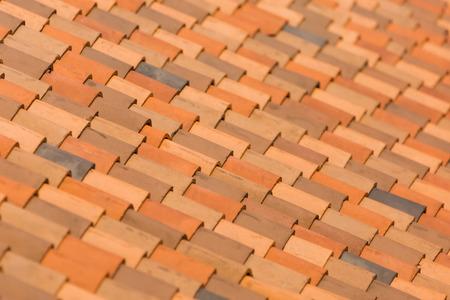 terra: Red terra cotta roof Stock Photo