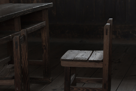 old desk: Old school chair and desk