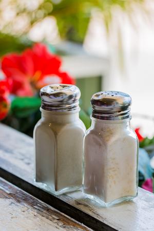 Salt and pepper shakers Reklamní fotografie