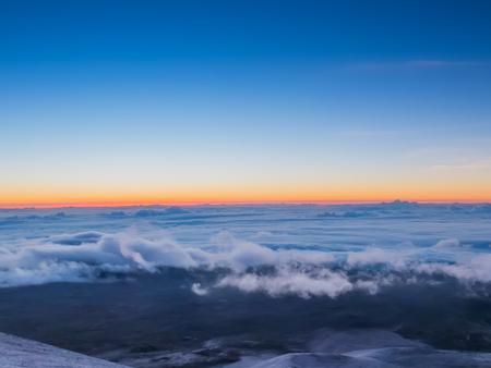 Sunrise at Mauna kea Stock Photo