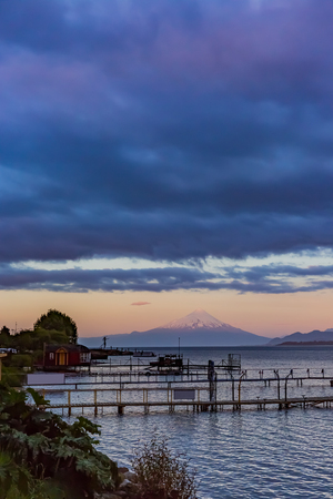 Osorno volcano and Llanquihue lake in Chile 写真素材
