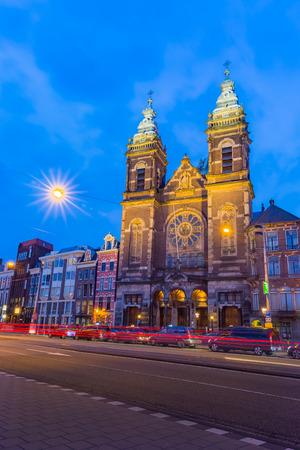 saint nicholas church in amsterdam Stock Photo