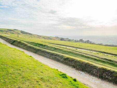 landscape of golf course in uk
